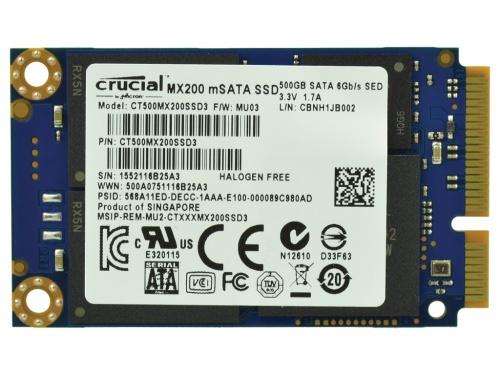 Memorie SSD 500GB 1.8 mSATA 6Gbps