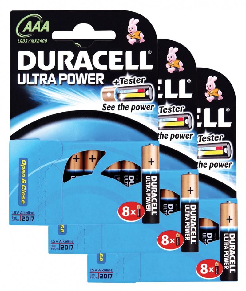 Baterie Duracell Ultra AAA Pachet 24 3 X MX2400B8