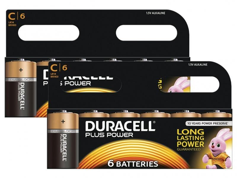 Baterie Duracell Plus Power Marime C Pachet 2 de 6