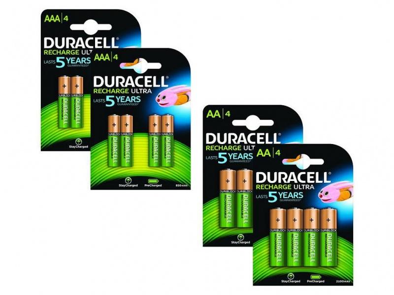 Baterie Duracell PreCharged AA/AAA Pachet de 8