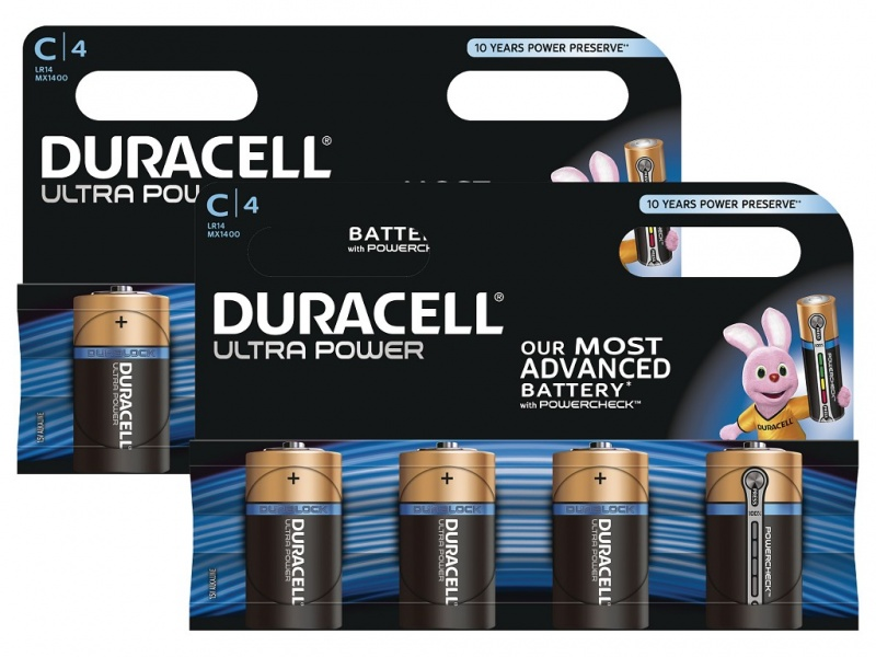 Baterie Duracell Ultra Power MX1400 C (Pachet 2 X 4)
