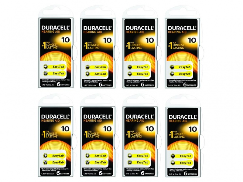 Baterie Duracell pentru Aparate Auditive 1.4V (Pachet 8 X 6)