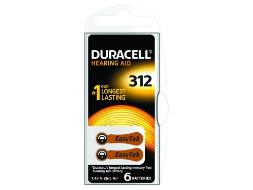 Baterie Duracell pentru Aparate Auditive 1.4V (Pachet de 6)