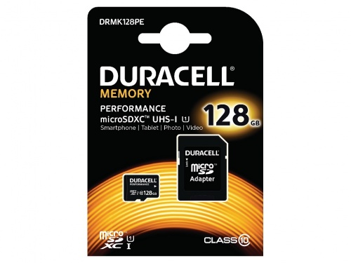 Kit Micro SD Duracell Performance + Adaptor SD 128GB/Clasa 10
