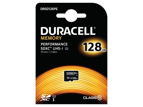 Card Micro SD Duracell Performance cu Adaptor SD 128GB/Clasa 10 UHS-1