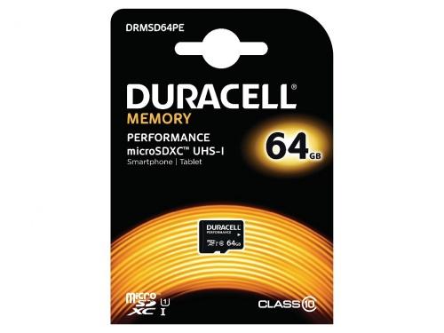 Card Micro SDXC Duracell cu Adaptor SD 64GB/Clasa 10 UHS-1