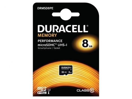 Card Micro SDHC Duracell cu Adaptor SD 8GB/Clasa 10 UHS-1