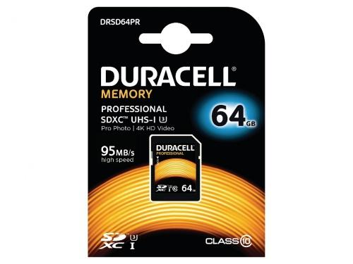 Card SDHC Duracell 64GB SDXC Clasa 10 UHS-3