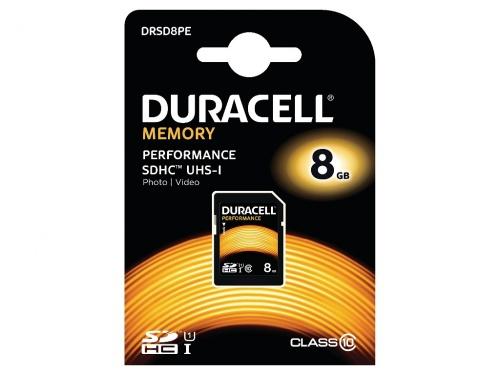 Card SDHC Duracell 8GB SDHC Clasa 10 UHS-1