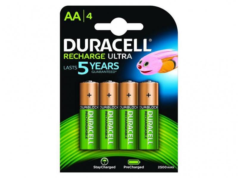 Baterie Duracell PreCharged AA 2500mAh (Pachet de 4)