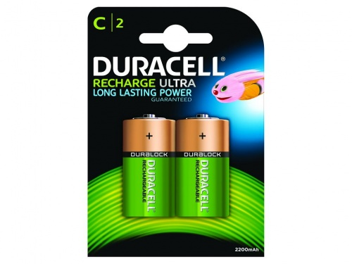 Baterie Duracell Reincarcabila Marime C (Pachet de 2)
