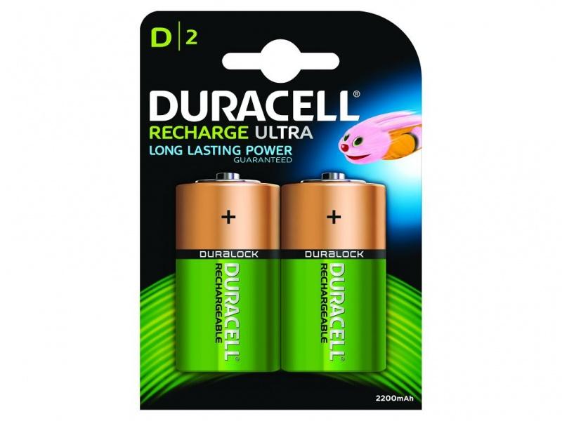 Baterie Duracell Reincarcabila Marime D (Pachet de 2)
