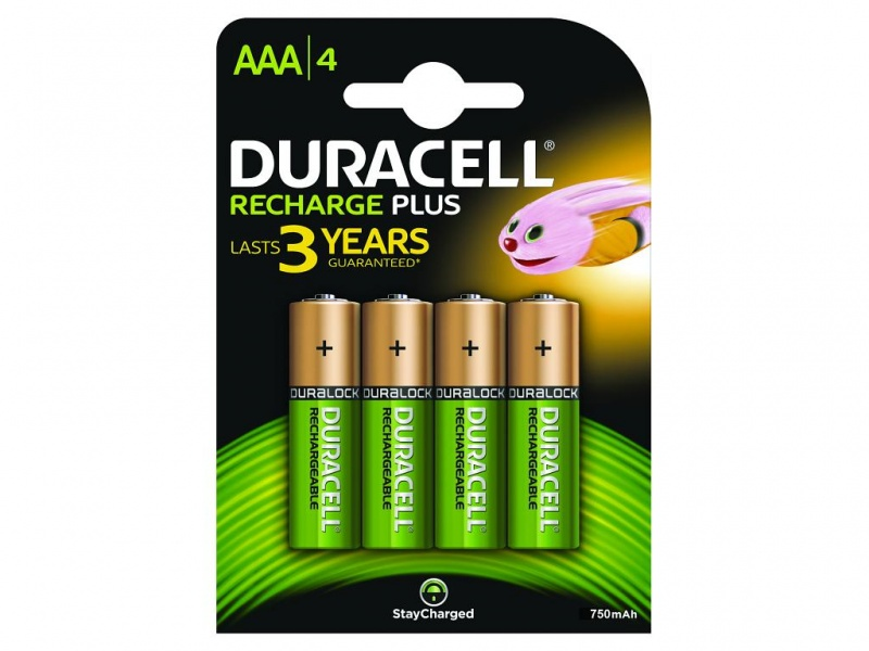 Baterie Duracell StayCharged AAA (Pachet de 4)