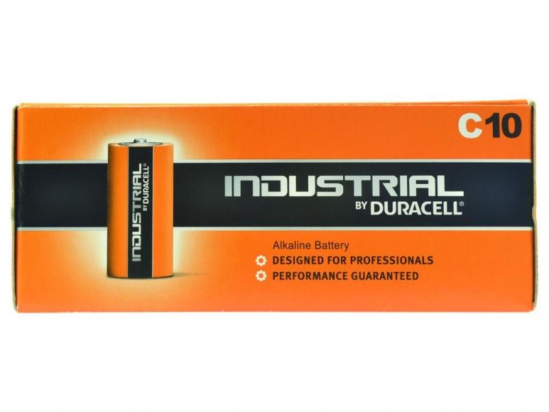 Baterie Duracell Industrial Marime C (Pachet de 10)