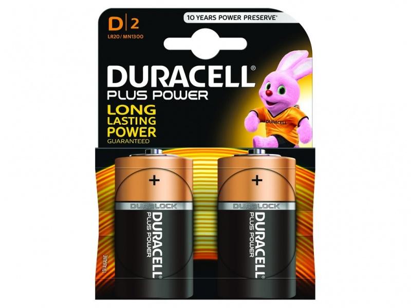 Baterie Duracell Plus Power Marime D Pachet de 2 (LR20)