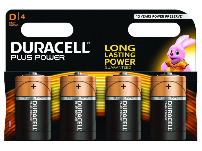 Baterie Duracell Plus Power Marime D Pachet de 4 (LR20)