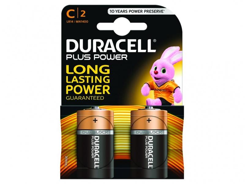 Baterie Duracell Plus Power Marime C Pachet de 2
