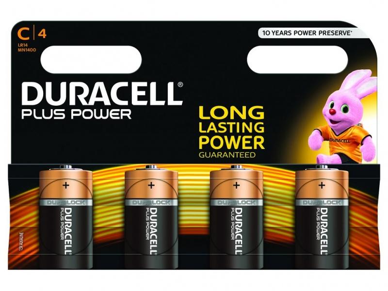 Baterie Duracell Plus Power Marime C Pachet de 4