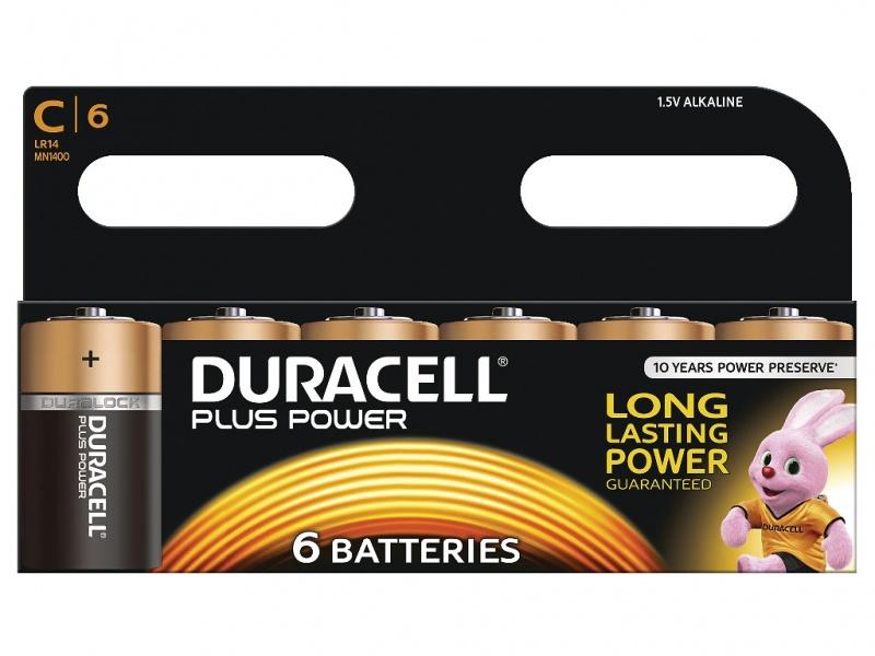 Baterie Duracell Plus Power Marime C Pachet de 6