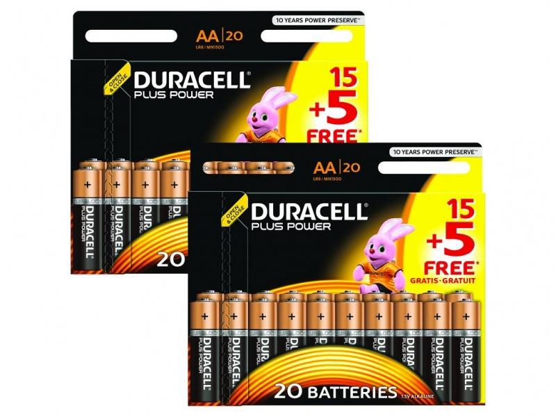 Baterie Duracell Plus AA (Pachet de 40)