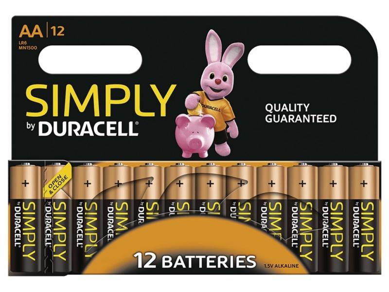 Baterie Duracell Generala Simply AA (Pachet de 12)