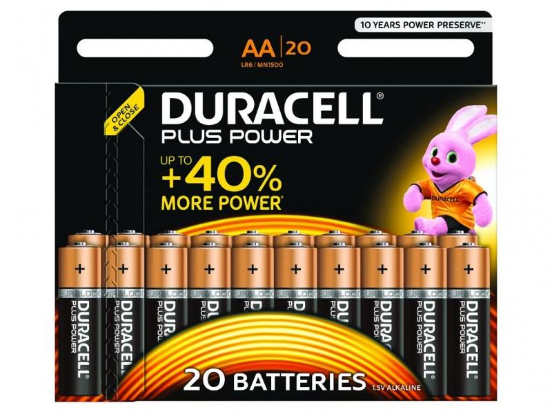 Baterie Duracell Plus Power AA Pachet de 20