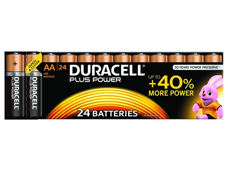 Baterie Duracell Plus Power AA Pachet de 24
