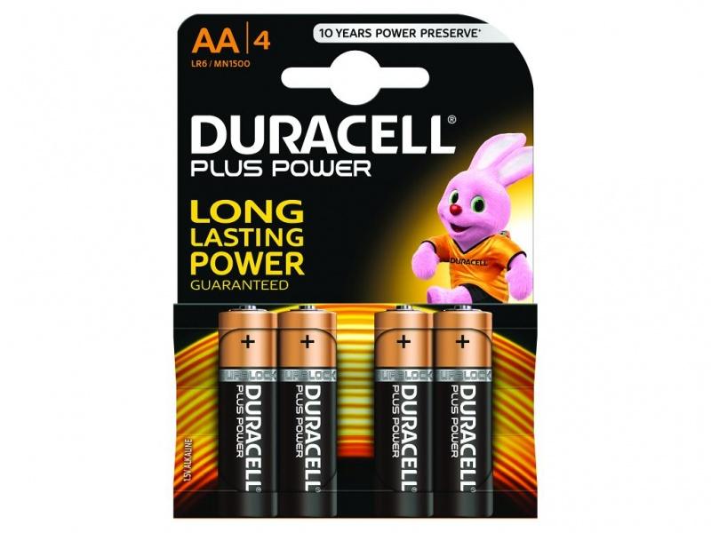 Baterie Duracell Plus Power AA Pachet de 4