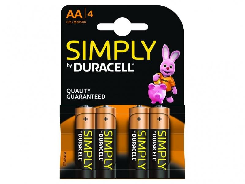 Baterie Duracell Simply AA Pachet de 4