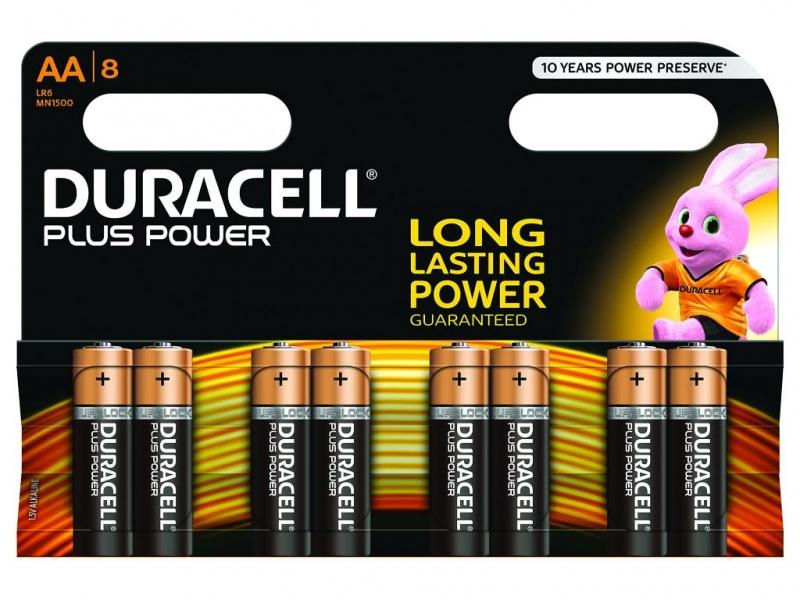 Baterie Duracell Plus Power AA Pachet de 8