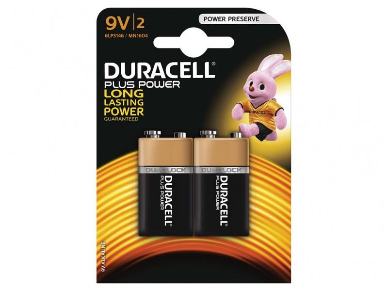 Baterie Duracell Plus Power 9V Pachet de 2