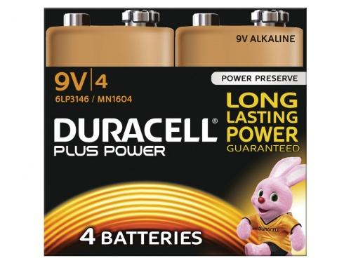Baterie Duracell Plus Power 9V Pachet de 4