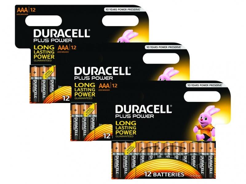 Baterie Duracell Plus AAA Pachet de 36 3 X MN2400B12