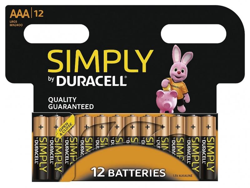 Baterie Duracell Simply AAA 1 Pachet de 12