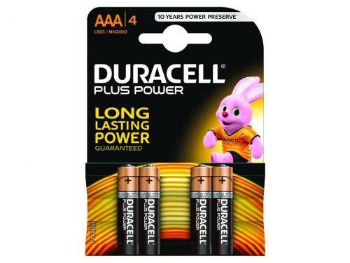 Baterie Duracell Plus Power AAA Pachet de 4