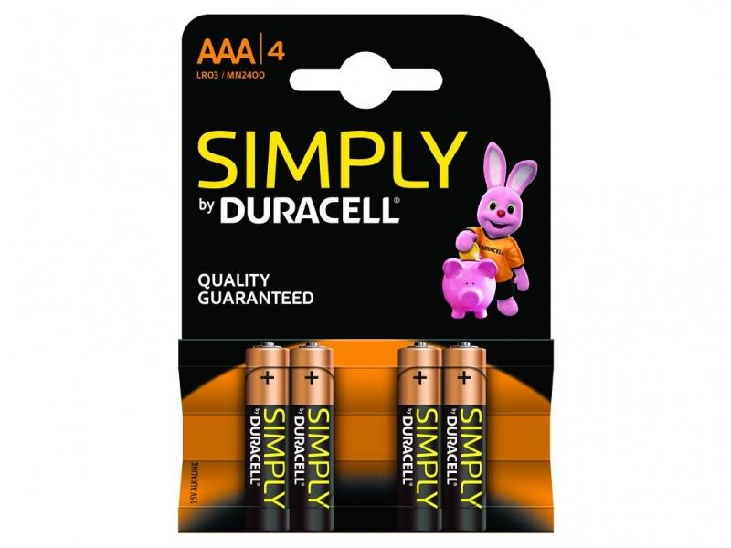 Baterie Duracell Simply AAA Pachet de 4