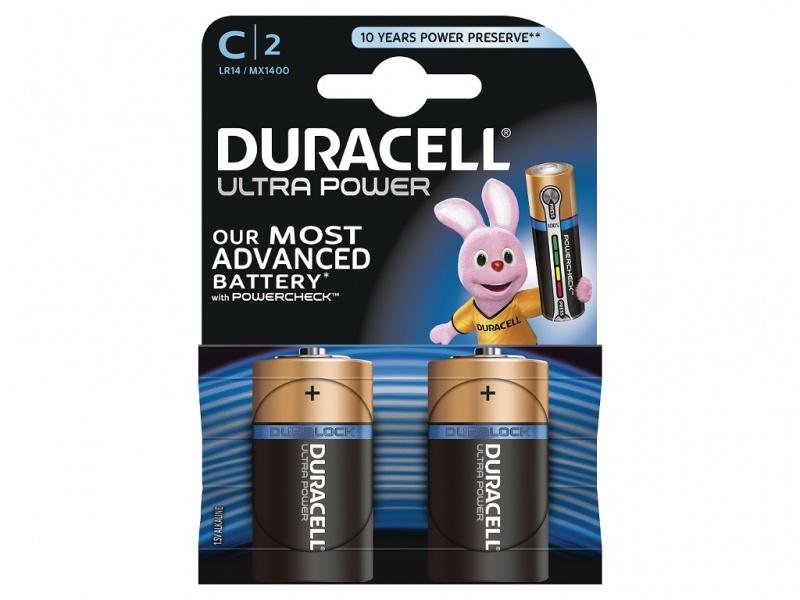 Baterie Duracell Ultra Power Marime C Pachet de 2