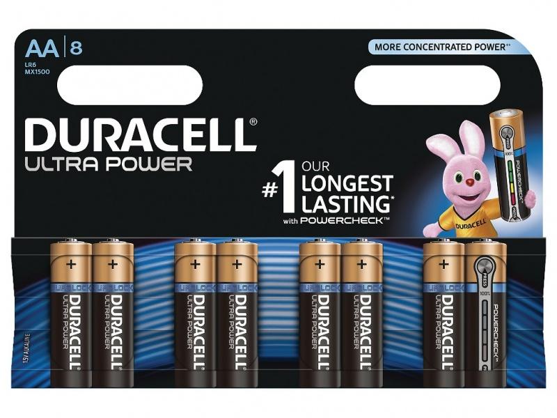 Baterie Duracell Ultra Power AA Pachet de 8