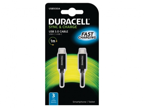 Cablu Duracell USB Tip-C to Type-C (Negru)