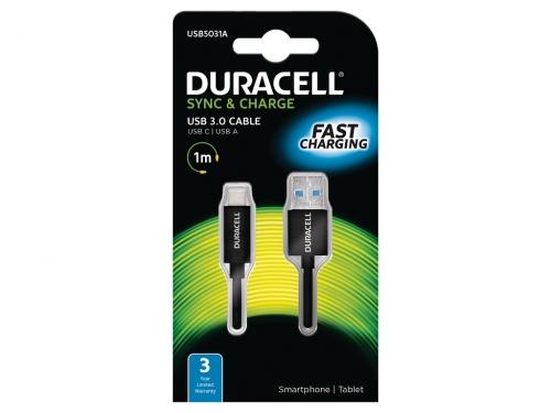 Cablu Duracell USB Tip-C to USB Type 3.0 (Negru)