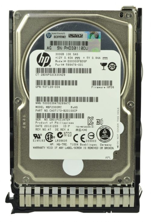 Disc Dur HP ProLiant BL460c Gen8 300GB