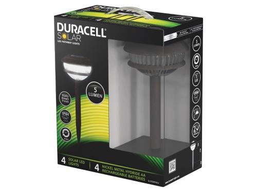 Pachet 4 Lampi Gradina Duracell LED Solare 5 Lumeni